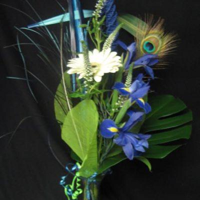 Fleurs bleues. Je suis fière de toi ! AE-1