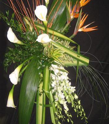 Gerbe fleurs funéraire.Splendeur et Grace ! FG-1