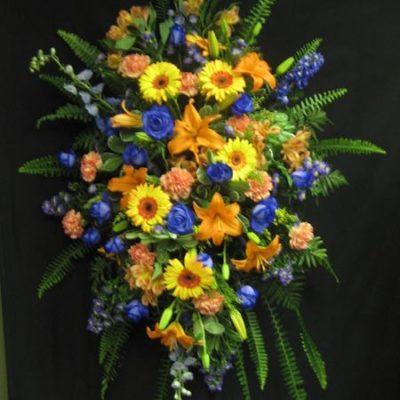 Gerbe de fleurs pour un décès. Éclatante nature ! FG-5