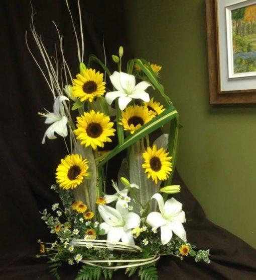 Fleurs urne funéraire. Un rayon de soleil ! FU-22
