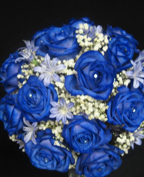 Mariage fleurs bleu. Le diamant bleu ! MB-3