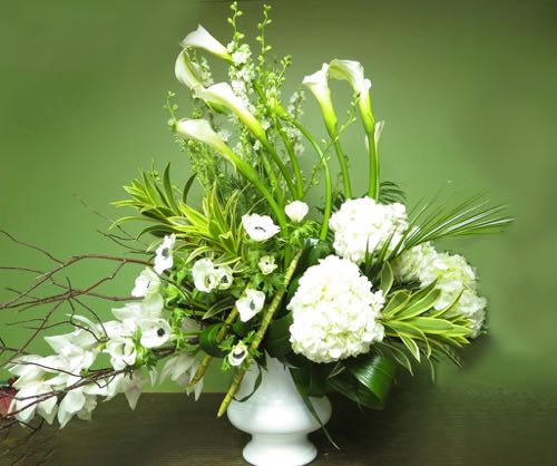 Arrangement de fleurs funéraire. Vers demain ! FCO-56