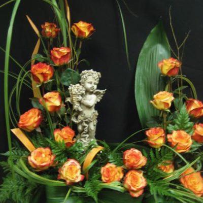Urne des fleurs. Mon bel ange ! FU-1