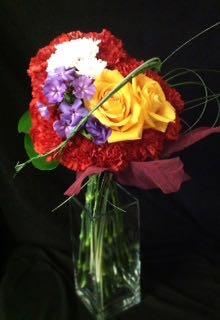 Des fleurs Saint-Valentin. Coeur rempli d'amour ! SV-13-3