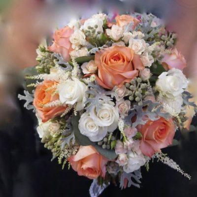 Bouquet mariage. Crème de la pêche ! MB-33
