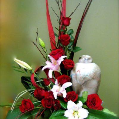 Fleurs pour urne funéraire. Dernier moment ! FU-9