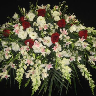 Coussin en fleurs pour un cercueil . L'harmonie ! FC-9