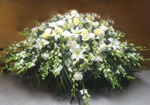 Coussin de fleurs pour cercueil. Repose en paix ! FC-6