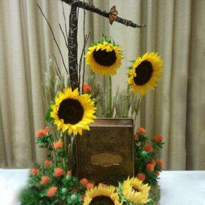 Fleurs pour urne mortuaire. La dernière page ! FU-21