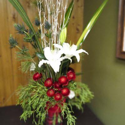 Bouquet de fleurs pour Noël d'antan ! NOO-3